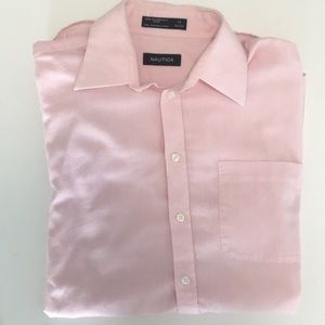 Nautica Men's Pink Dress Shirt